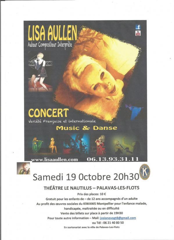 Concert lisa aullen 19 octobre